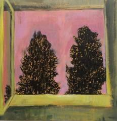 ana calzavara, sem titulo, xilo e pintura sobre tela, 30x30cm (3)