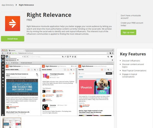 """This app breaks out the """"share relevant content"""" features of Klout."""