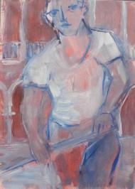 H74 (réservé) - Balcon et gondolier (35 x 24 cm)