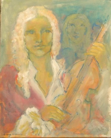 H81- Vivaldi et la jeune fille (60 x 50 cm)