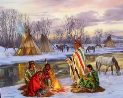 Indian Home Girl Wallpaper Hubert Wackermann Original Western Art Oil Paintings