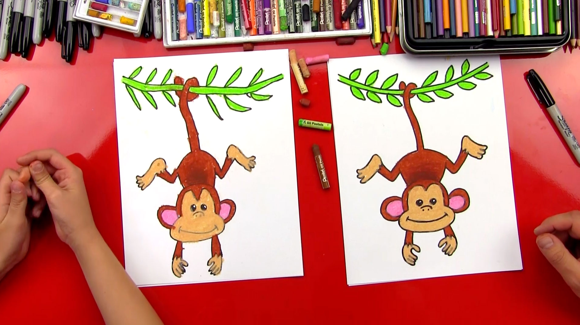 How To Draw A Monkey Art For Kids Hub