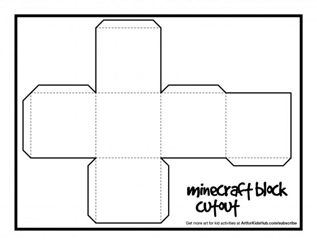 Free Papercraft Minecraft block cutout!