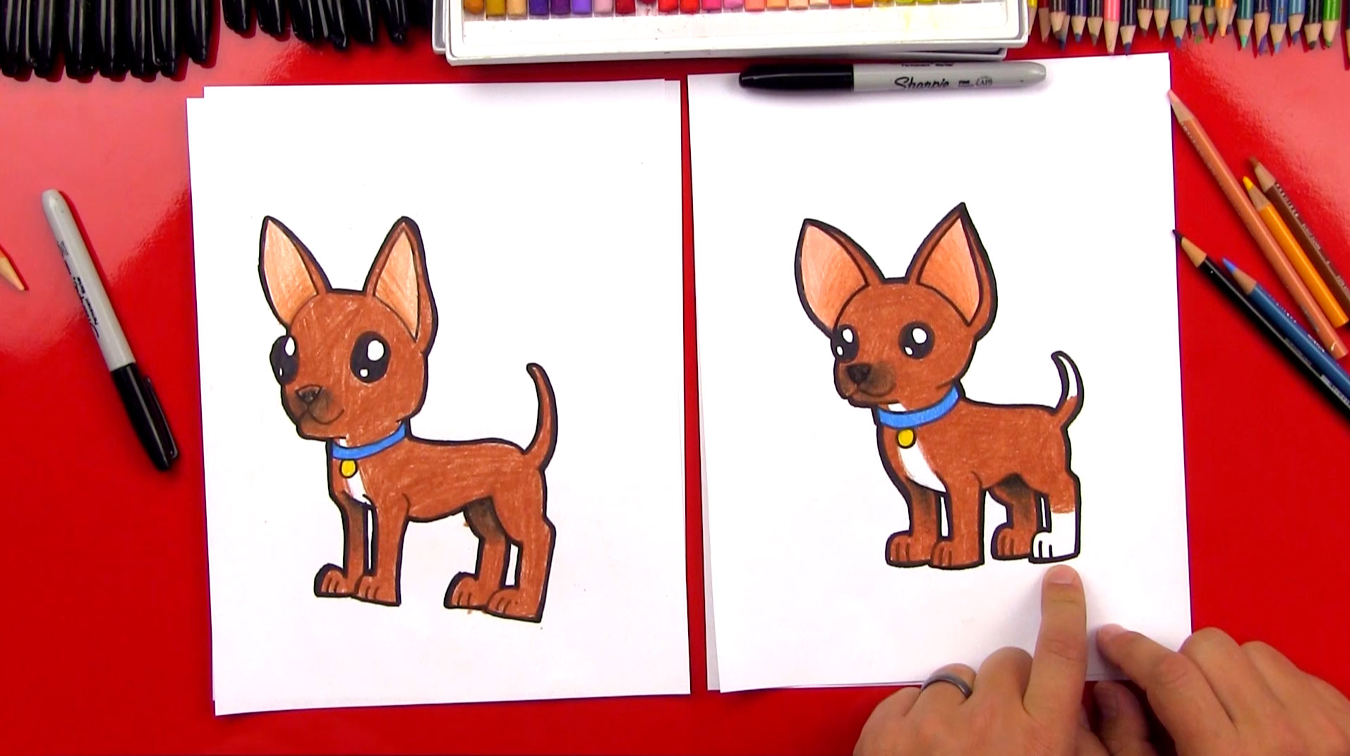Silhouette Girl Real Wallpaper How To Draw A Chihuahua Art For Kids Hub