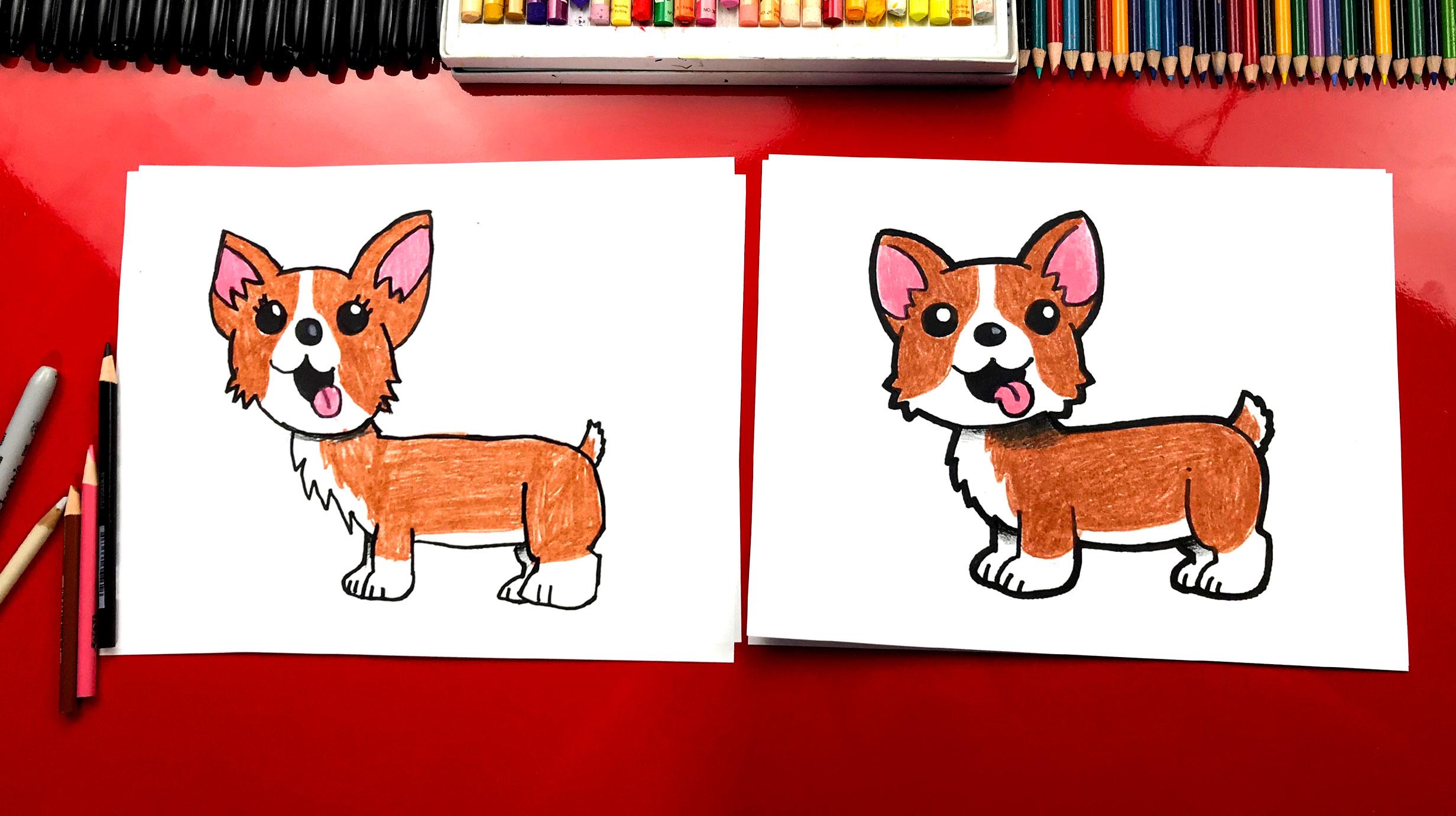 Teen Titans Cute Wallpaper How To Draw A Corgi Art For Kids Hub