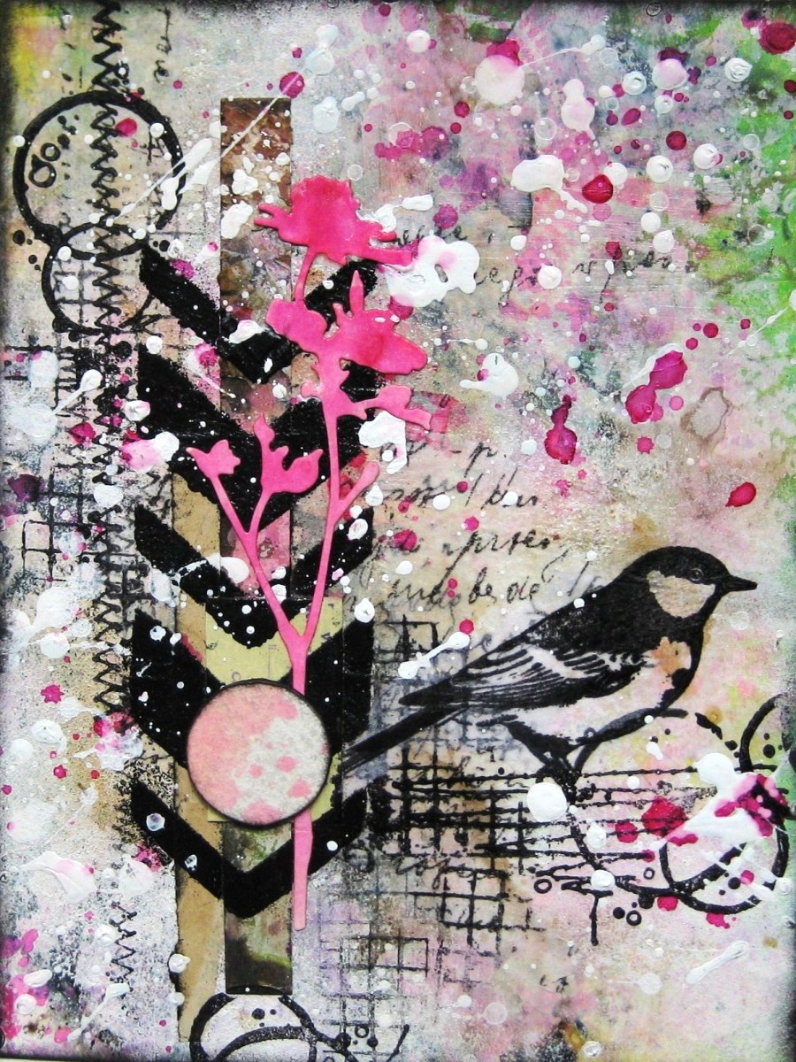 Looking for the Summer mixed media card