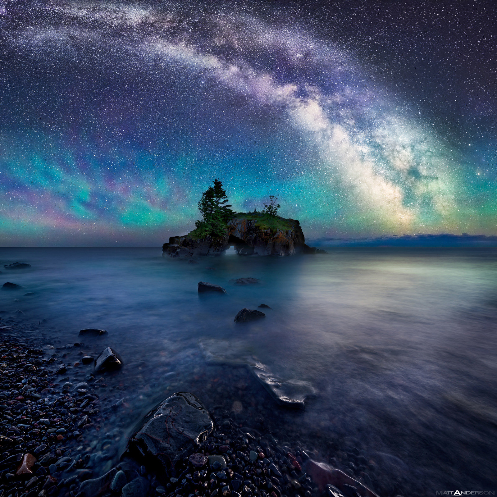 I Letter 3d Wallpapers Milky Way Over Hollow Rock By Matt Anderson Color