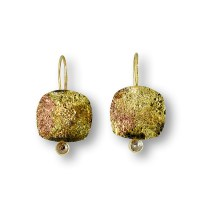 Raw Diamond Earrings by Susan Ronan (Gold, Steel & Stone ...