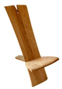 African/Art Nouveau Chair by Mathieu Patoine (Wood Chair ...