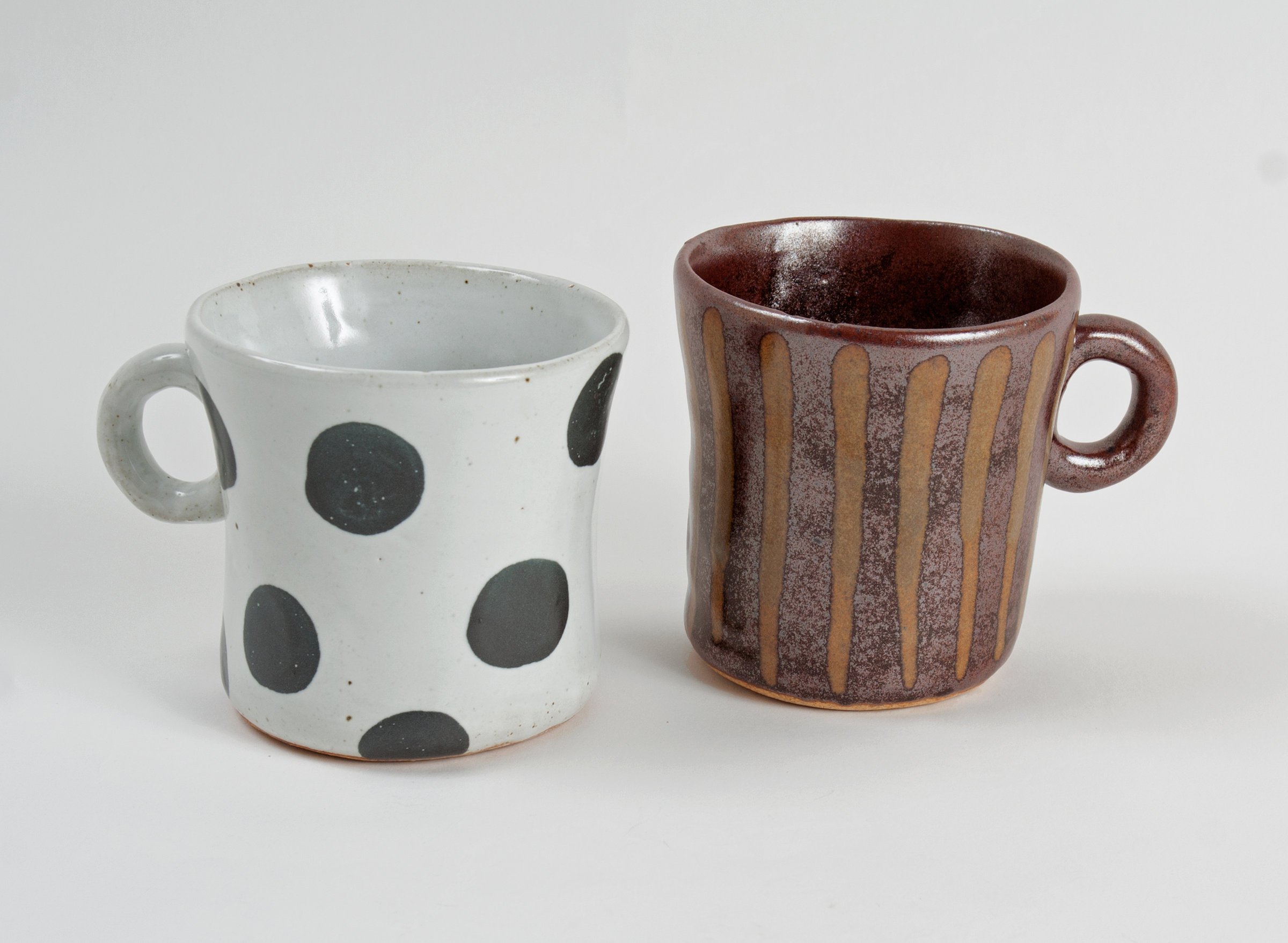 Elegant G Stripe By Michael Jones Ceramic Travel Mugs Ceramic Mugs Patterned Stoneware Black Dot G Stripe By Michael Jones Artful Home Patterned Stoneware Black Dot furniture Unique Ceramic Mugs