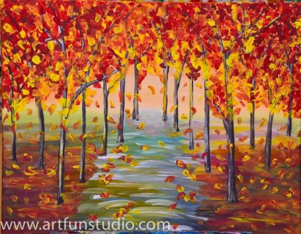 Fall 2017 Wallpaper Sip And Paint Catalog Art Fun Studio