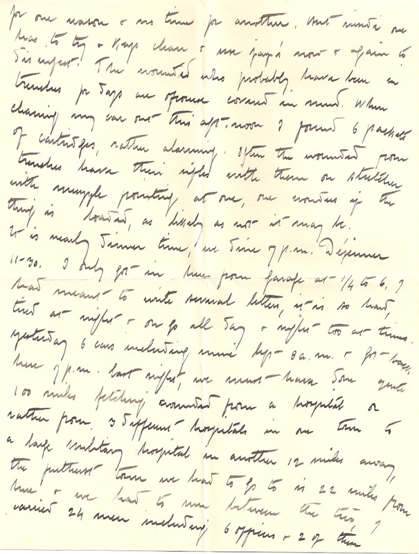 Letters home from WW1 March 1915