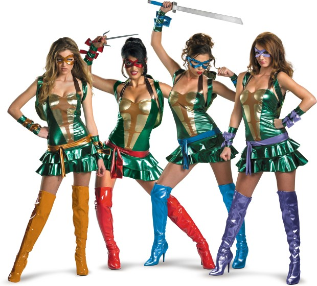Hottest costume: Sexy ninja turtles