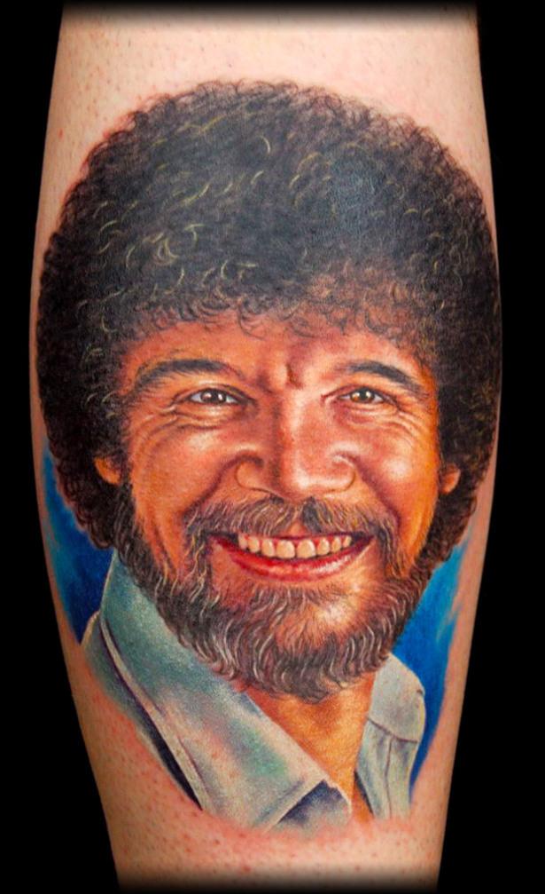 tattoo, Bob Ross, happy trees
