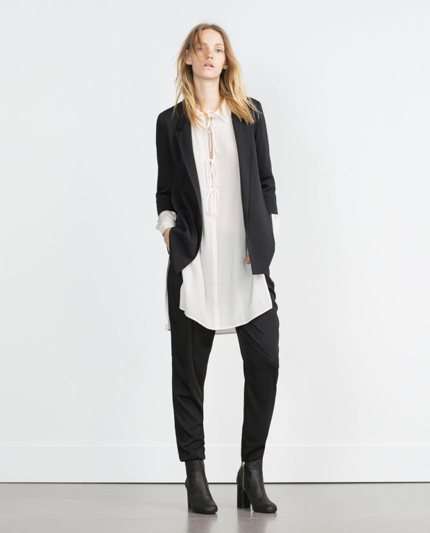 loose fitting blazer