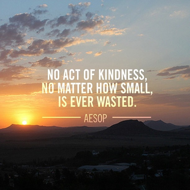 No act of kindness, no matter how small, is ever wasted.
