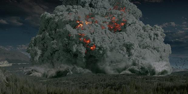 An artist's depiction of a super-volcanic eruption, (eden.uktv.co.uk)