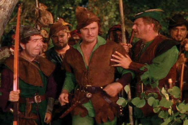 Old movies: Screenshot from The Adventures of Robin Hood.