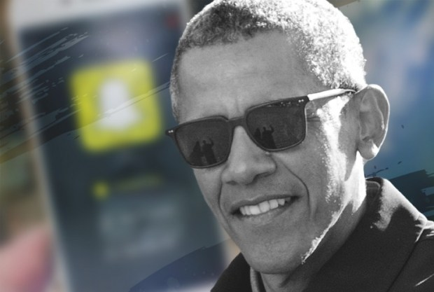 future of politics: President Obama and snapchat