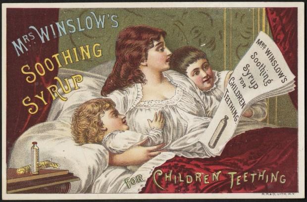 medical history: soothing syrups ad