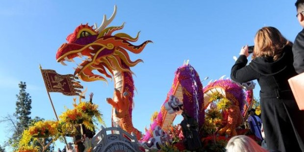 rose bowl parade: marco polo east meets west float