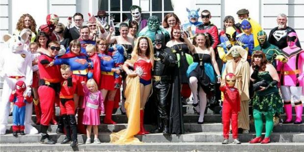crazy weddings: superhero theme wedding