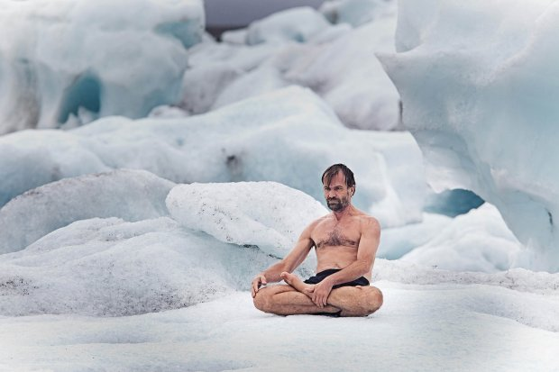 The Iceman meditating in his natural habitat, (Chapter Fifty).