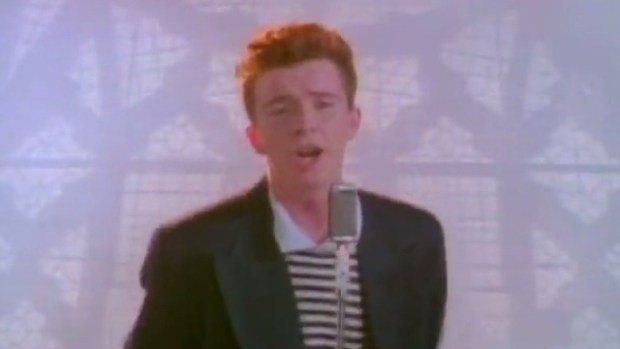 Flower shell: Rick Astley's never going to give you up