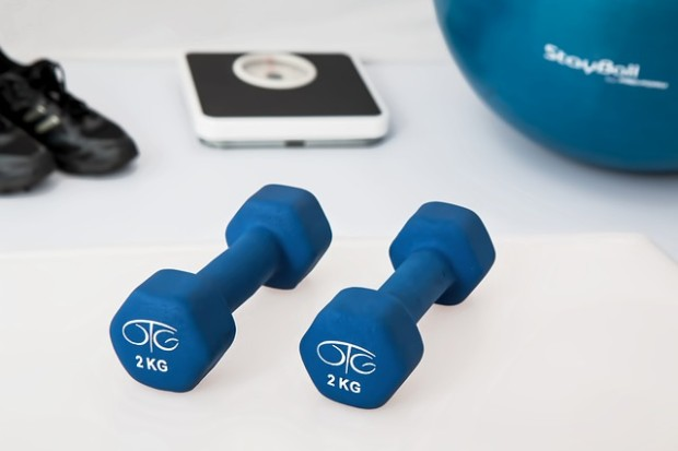 vagina weightlifting: picture of 2 kg dumbells