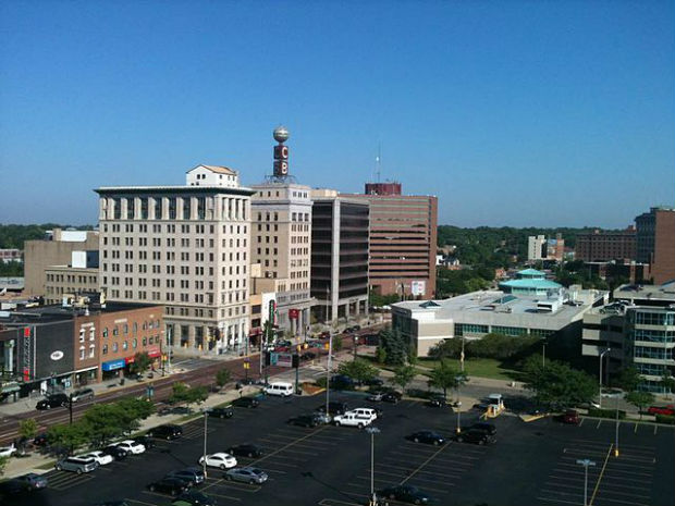 Photo of downtown Flint, Michigan