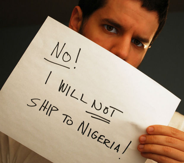 No! I will no ship to Nigeria!