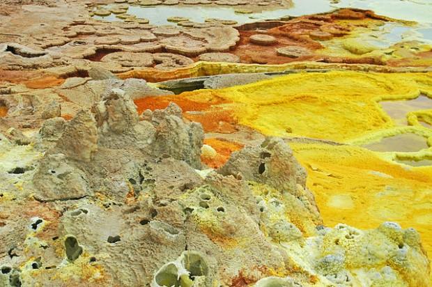 Photo of Ethiopia's toxic hot springs
