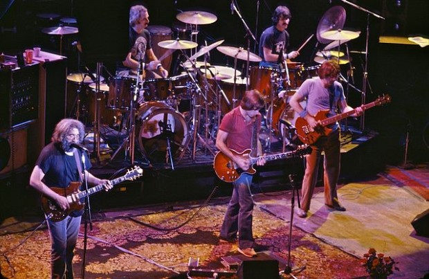 Photo of the Grateful Dead in concert