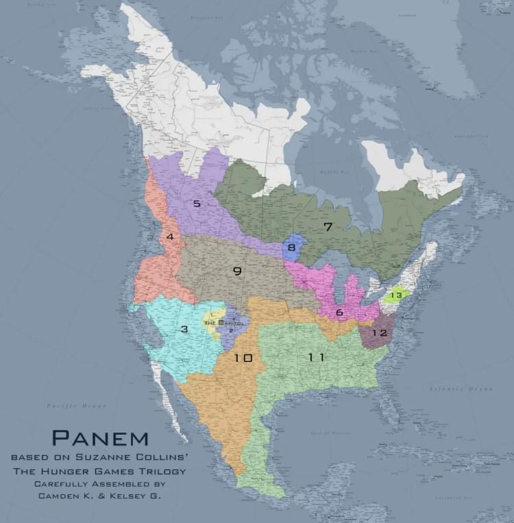 Map of Panem