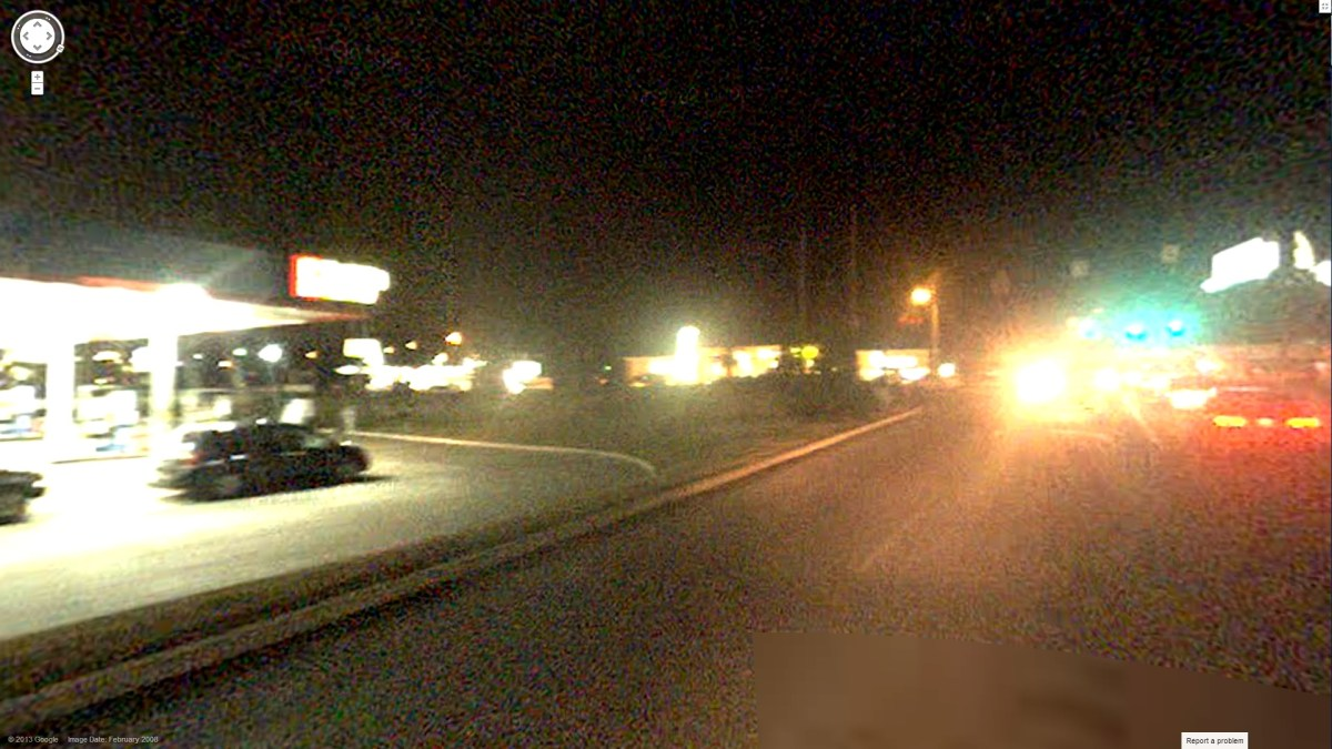 Google Street View At Night Artifacting