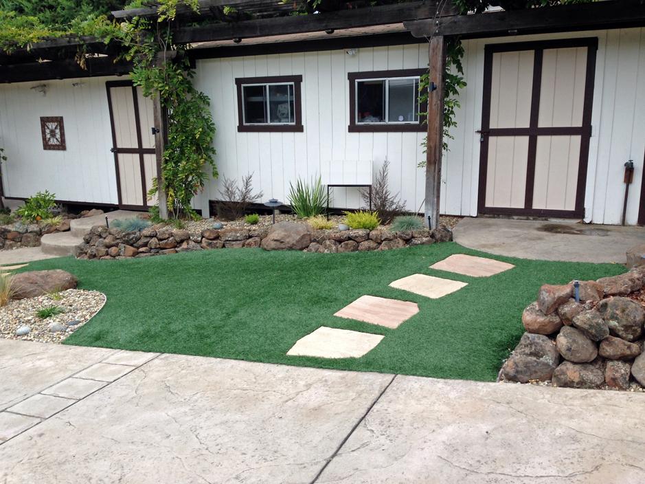 Fake Grass Carpet Fuller Acres, California Garden Ideas, Small Front