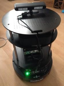 The assembled Autonomous Deep Learning Robot