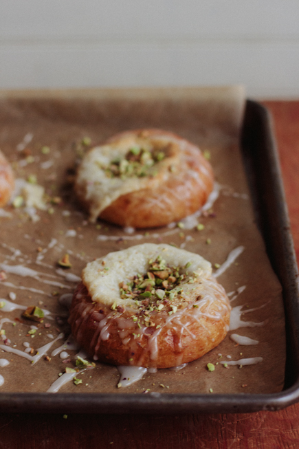 Brioche Danish with Goat Cheese and Pistachios | Bread in 5