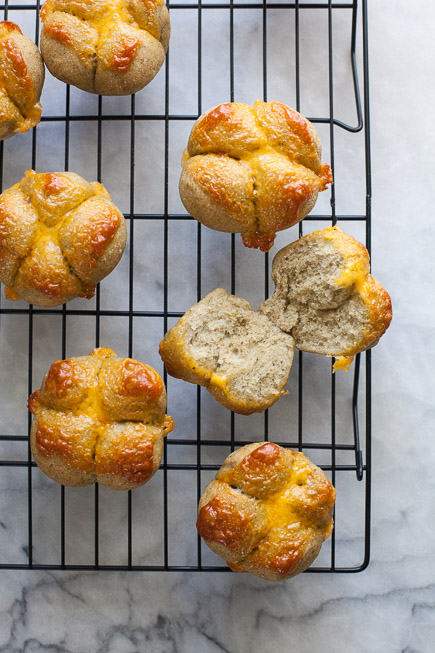 Broccoli Cheddar Clover Buns | Breadin5 (1 of 5)