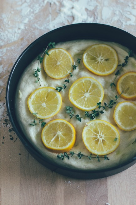 meyer lemon + thyme focaccia   bread in 5