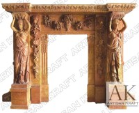 Statue Marble Fireplace