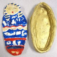 Egyptian Clay Sarcophagus Art Project for 4th and 5th Graders