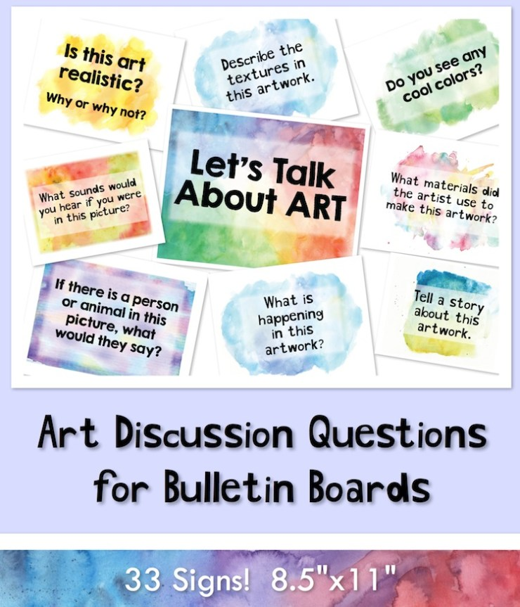 Bulletin Board Ideas For Questions: Art Discussion Signs For Bulletin Boards