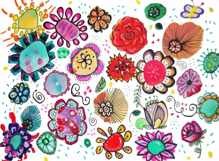 Watercolor Flower Doodles Easy Amp Fun