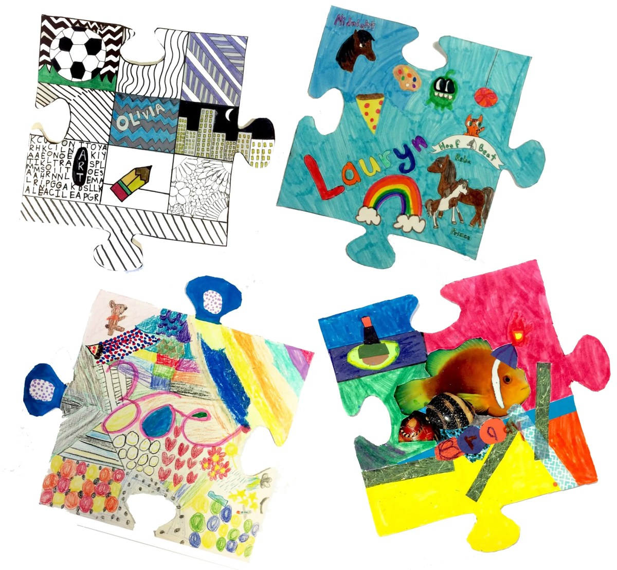 All About Me Collaborative Puzzle Pieces