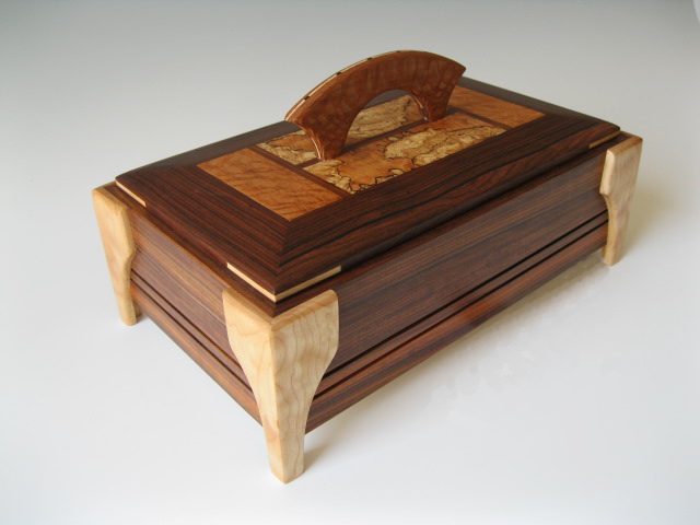 Handmade Artistic Wooden Boxes For Jewelry Keepsakes And