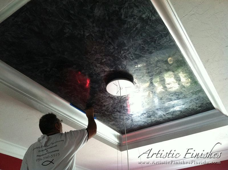 Black Textured Wallpaper South Florida Venetian Plaster