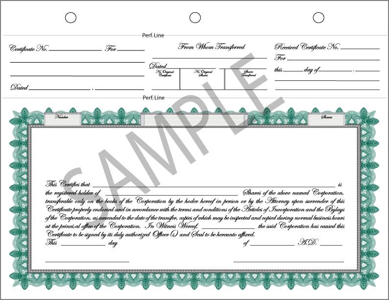 Certificate Design - Complete Stock Certificate in Vector Format - certificate design format