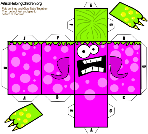 Paper Folding Templates Halloween Crafts On Paper