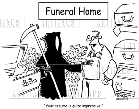 Artizans - Image Information Funeral director impressed with Grim - funeral director resume